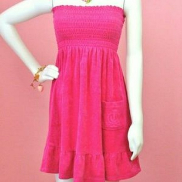 c060187afb Juicy Couture Cerise Tube Dress Size S P NWT